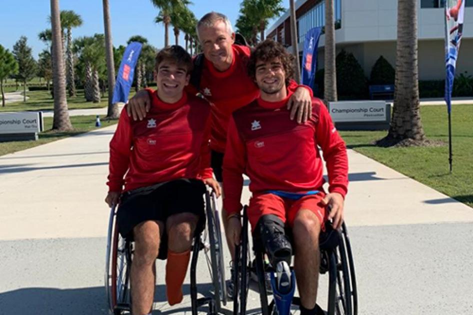 Caverzaschi y De la Puente cierran su tercer Masters de Dobles de tenis silla en la fase de grupos